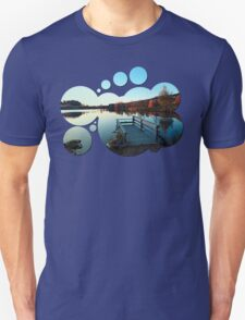 Indian summer sunset at the fishing lake II | waterscape photography T-Shirt