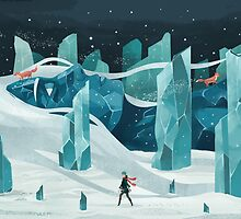 The wanderer and the ice forest by Reno Nogaj