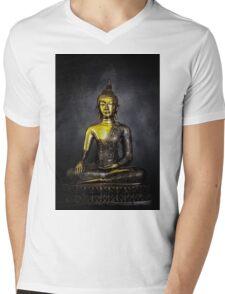 Goldener Buddha Mens V-Neck T-Shirt