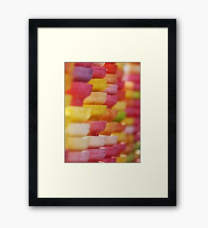 COLORFUL LAYER OF ICE CREAM CONES Framed Print