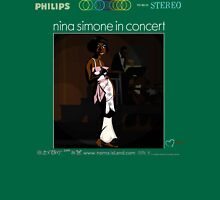 NINA SIMONE IN CONCERT Womens Fitted T-Shirt