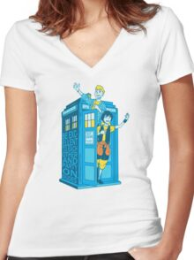 Most Excellent Time Travellers Women's Fitted V-Neck T-Shirt