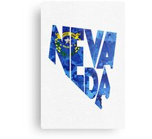 Nevada Typographic Map Flag Metal Print