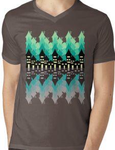 Blue city at night Mens V-Neck T-Shirt