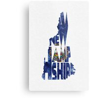 New Hampshire Typographic Map Flag Metal Print