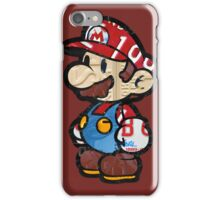 Mario from Mario Brothers Nintendo License Plate Art Portrait iPhone Case/Skin