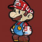 Mario from Mario Brothers Nintendo License Plate Art Portrait by designturnpike