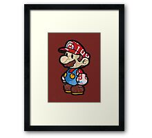 Mario from Mario Brothers Nintendo License Plate Art Portrait Framed Print