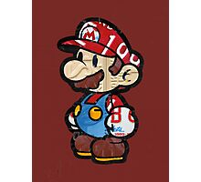 Mario from Mario Brothers Nintendo License Plate Art Portrait Photographic Print