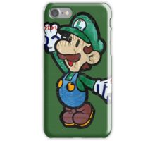 Luigi from Mario Brothers Nintendo License Plate Art Portrait iPhone Case/Skin