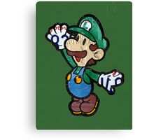 Luigi from Mario Brothers Nintendo License Plate Art Portrait Canvas Print