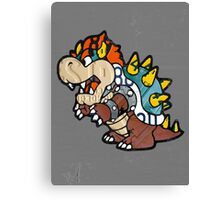 Bowser from Super Mario Brothers Nintendo Recycled License Plate Art Portrait Canvas Print