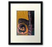 sure make it swirl Framed Print