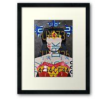 Wonder Woman Superhero Recycled License Plate Art Framed Print