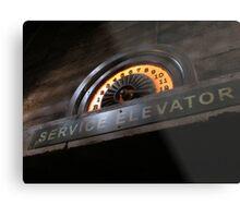 Hollywood Tower Hotel- Service Elevator Metal Print