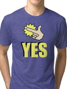 Rick & Morty yes Tri-blend T-Shirt
