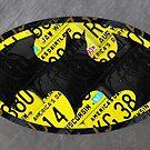 Bat Symbol Batman Recycled License Plate Art by designturnpike