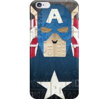 Captain America Superhero Recycled License Plate Art iPhone Case/Skin