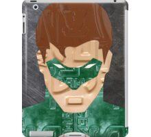 Green Lantern Superhero Recycled License Plate Art iPad Case/Skin