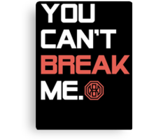 Octagon MMA You Can't Break Me Canvas Print