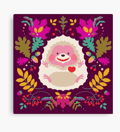 Hedgehog LOVE Canvas Print