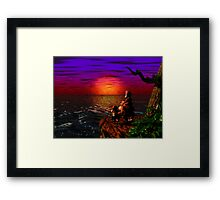 Donkey Kong Sunset Framed Print