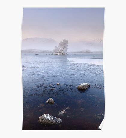 Glencoe Misty Winter Sunrise Poster