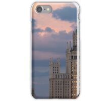 Moscow Russia on against dramatic sunset sky.  iPhone Case/Skin