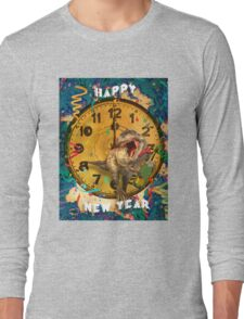 Jurassic New Year's Eve Long Sleeve T-Shirt