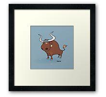 funny zodiac/taurus Framed Print