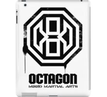 Octagon MMA Spray Logo (Black) iPad Case/Skin