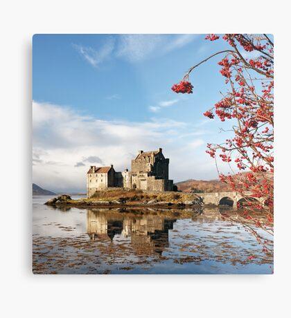 Eilean Donan - Loch Duich Reflection Metal Print