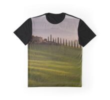Orcia valley in the misty morning, Tuscany, Italy, Europe Graphic T-Shirt