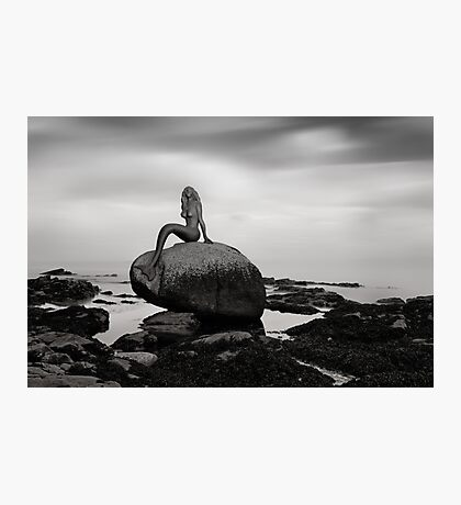 Mermaid of the north mono Photographic Print