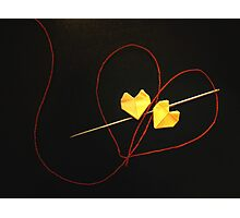 Red String of Fate Photographic Print
