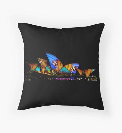 Vivid Sydney Opera House Throw Pillow
