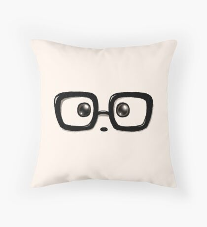 Geek Chic Panda Eyes Throw Pillow