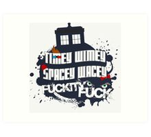 Doctor Who Catchphrases Art Print