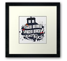 Doctor Who Catchphrases Framed Print