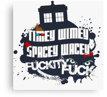 Doctor Who Catchphrases Canvas Print