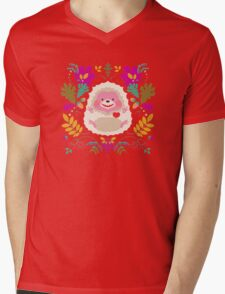 Hedgehog LOVE Mens V-Neck T-Shirt
