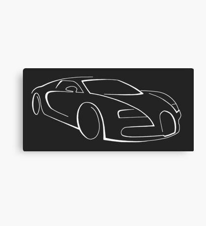 Bugatti Veyron graphic (White) Canvas Print