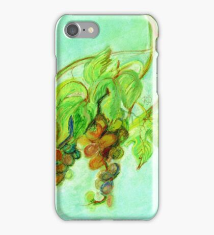 Green grapes iPhone Case/Skin