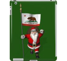 Santa Claus With Flag Of California iPad Case/Skin