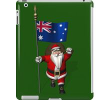 Santa Claus With Flag Of Australia iPad Case/Skin