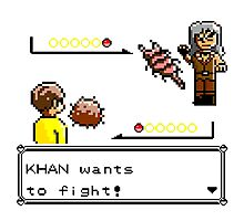 Khan Wants to Fight! Photographic Print