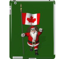 Santa Claus With Flag Of Canada iPad Case/Skin