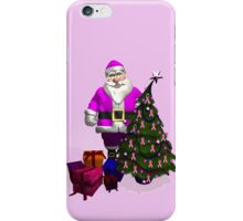 Santa Claus Dressed In Pink iPhone Case/Skin