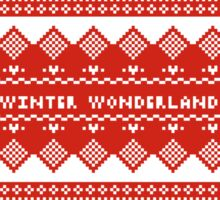 winter wonderland Sticker