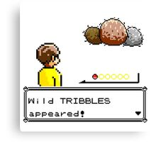 Wild Tribbles Appeared! Canvas Print
